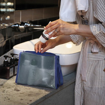 Honana BX-174 Waterproof PVC Storage Cosmetic Bags Swimming Net Travel Transparent Stoage Bag