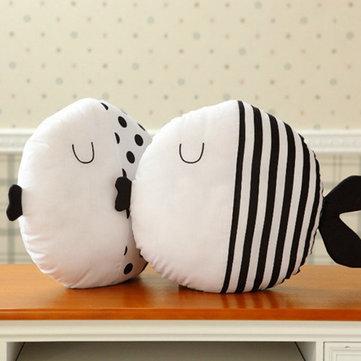 Cute Dot Kiss Fish Throw Pillow Cotton Cloth Sofa Car Bedding Cushion Home Decoration