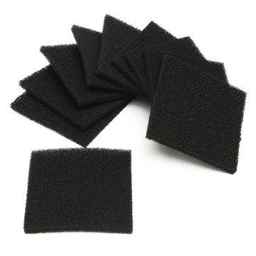 10pcs Black Square Activated Carbon Foam