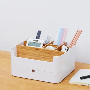 Bamboo Cosmetic Drawer Box