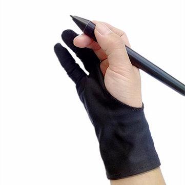 Sicherheit Handschuh Künstler Handschuh für jede Grafik Tablet schwarz 2 Finger Anti-Fouling rechts und links verfügbar