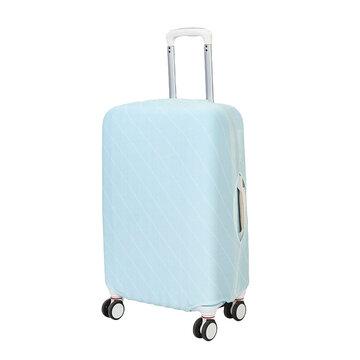 Cubierta elástica del caso de la carretilla de la cubierta del equipaje del color sólido