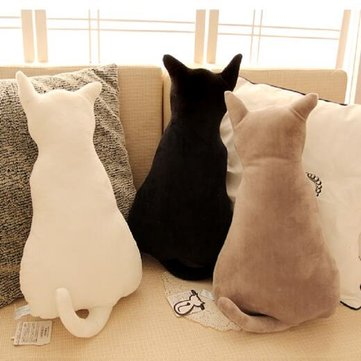 Cute Pillow Soft Plush Cat Back Sofa Pillow Cushion Plush Toys Stuffed Creative Retro Cat Sofa Pillow Alices Back Cats Big Pillow Cats Dolls Plush Toys Cushions Dolls Gifts Dolls Toys