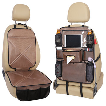 Silicone Car Seat Back Storage Bag Waterproof Seat Cover