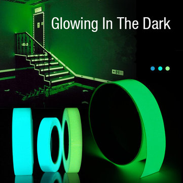 5mx15mm Luminous Tape Self-adhesive Green Blue Glowing In The Dark Safety Stage Home Decor, Blue light blue green