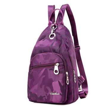 Women Nylon Camouflage Backpack Girls Outdoor Sports Multifu