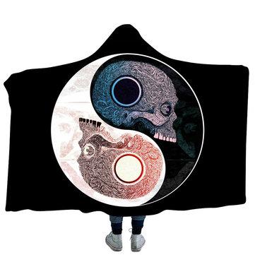 Yin and Yang Bejirog Hooded Blankets