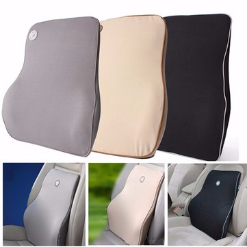 Lumbar Back Support Waist Cushion Pillow Memory Foam Cotton Home Chair Car Seat Lumbar Pad, Blue red off white grey black