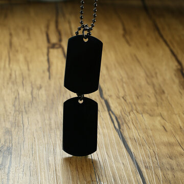 Trendy Double Dog Tag Necklaces