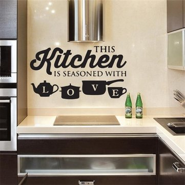 Miico 3D Creative PVC Wall Stickers Home Decor Mural Art Removable Special Kitchen Words Wall Decals