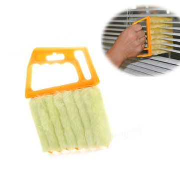 Mini 7 Hand Held Microfibre Venetian Blind Brush Window Air Conditioner Duster Dirt Clean Cleaner