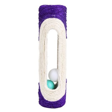 Funny New Pet Cat Toys Rolling Sisal Scratching Post Trapped
