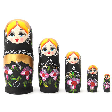 5pcs Matryoshka Russian Nesting Dolls