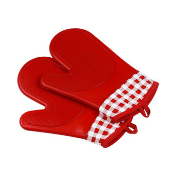 KCASA KC-PG06 1Pcs Silicone Cotton Oven Mitts Microwave Oven BBQ Heat Resistant Potholder Gloves
