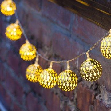 [{}} KCASA SSL-12 LED 4.8M 20LED Garten Solar Panel Licht Ball Urlaub Garten Teil