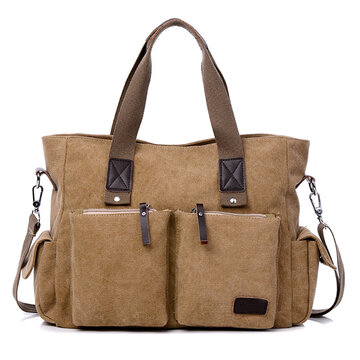 Men Large Capacity Canvas Crossbody Bag Handbag