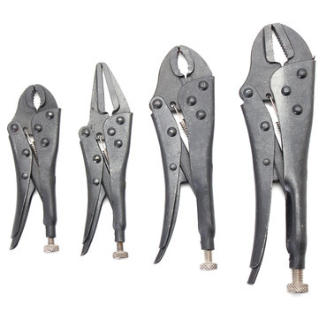 4Pcs Blackening Heat Treatment Set Forceps Locking Pliers