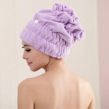 [{}} Frauen Magic Fast Hair Trocknen Handtuch Kopf Wrap Absorbent Makeup Cosmetics Cap Bad [{}}
