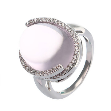 JASSY® Romantic Rose Quartz Ring