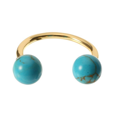 JASSY® Gold Turquoise Open Ring
