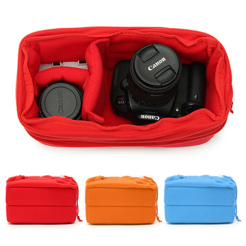 Padded Shockproof DSLR SLR Camera Insert Bag Protect Case Pouches For Canon For Nikon For Sony