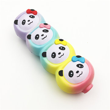 Squishyfun Rainbow Panda Candy Stick Squishy 15cm Slow Rising With Packaging Collection Gift Toy