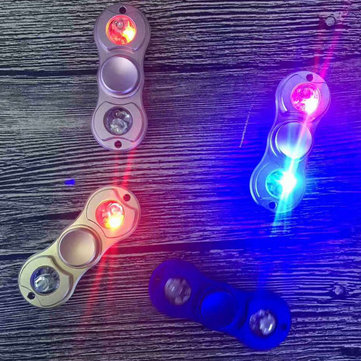 MATEMINCO EDC LED Hand Spinner Outdoor Toys Aluminum Alloy Anti Stress Reliever/ ADHD Quitting Bad Habits and Staying Awake