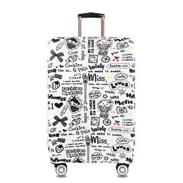Graffiti Style Elastic Luggage Cover