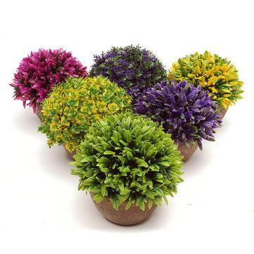 Colorful Árvore de topiária artificial Plantas de bola Pote Jardim Escritório Casa Decoração de flores