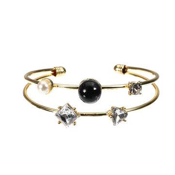JASSY® Stylish Pearl Zirconia Bracelet