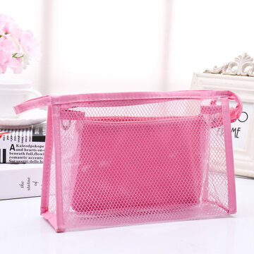 2Pcs Waterproof PVC Cosmetic Bags