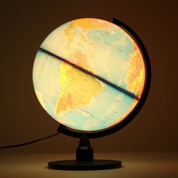 Illuminated World Earth Globe Rotating Night Light
