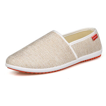 New Men Shoes Lightweight Cotton Blend Slip On Sustentável Flats