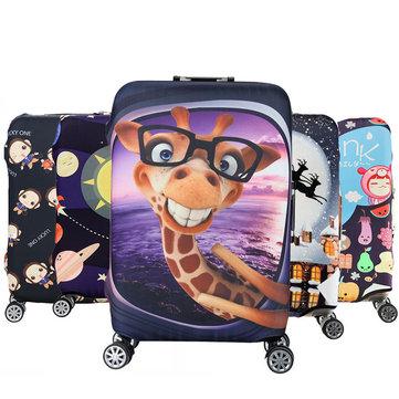 Honana Cartoon Cute Animal Elastic Luggage Cover