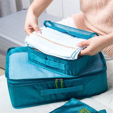 7Pcs Clothes Underwear Socks Packing Cube Storage Bag