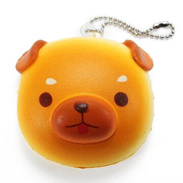 Super Squishy Cute Dog Soft Mini Animal Hanging Drop Slow Rising Decor Toy Pendant