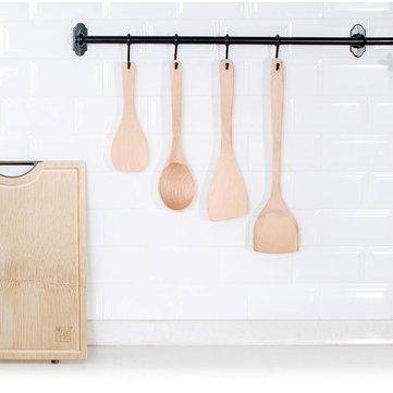 Кухонный совок из бука, четыре штуки