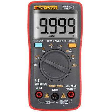 ANENG AN8008真の実効値波出力デジタルマルチメータ9999カウントバックライトAC DC電流電圧抵抗周波数容量方形波出力