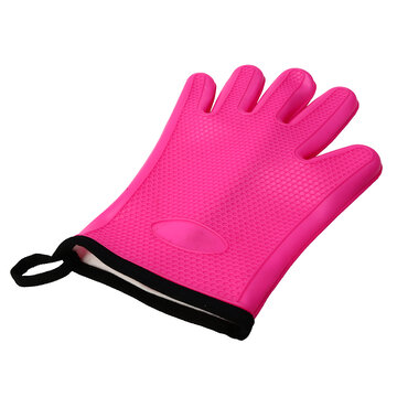 KCASA KC-PG08 1Pc Silicone Cotton Microwave Oven BBQ Oven Mitt Heat Resistant Potholder Gloves