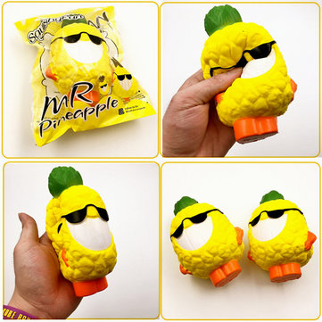 Squishyfun Mr Pineapple Jumbo Squishy 15cm Slow Rising Original Packaging Collection Gift Decor фото