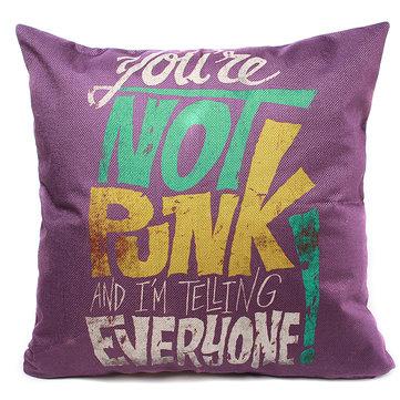 44x44cm Purple Linen Pillow Case Throw Cushion Cover Home Decor
