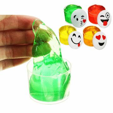 Emoji Face Slime Cup Bottle Crystal Mud