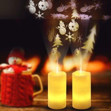 Новогодняя снежинка LED Свеча