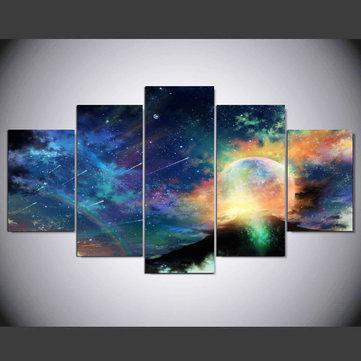 5Pcs bunte kosmische Wandmalerei