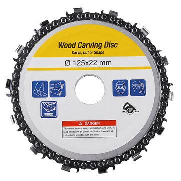 Drillpro 5-дюймовый шлифовальный диск с цилиндрической головкой 22 мм Arbor 14 Teeth Wood
