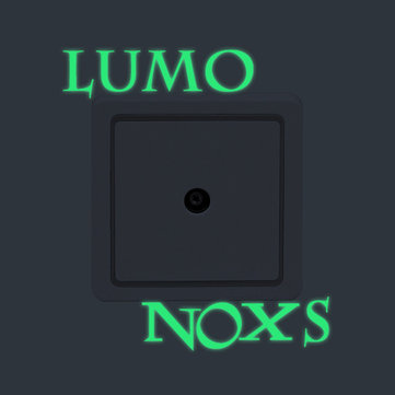 LUMO NOXS Creative Luminous Switch Sticker Removable Glow In The Dark Wall Decal Home Decor
