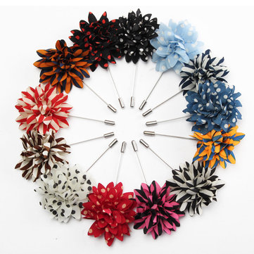 Men Lapel Flower Boutonniere Stick Brooch Pin Handmade Wedding Suit Accessories
