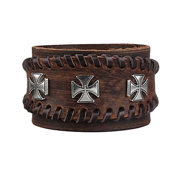 Genuine Leather Bangle Bracelet