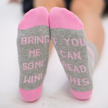 Casual Funny Middle Tube Sock