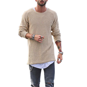 Mens Knit Solid Color Casual Sweater